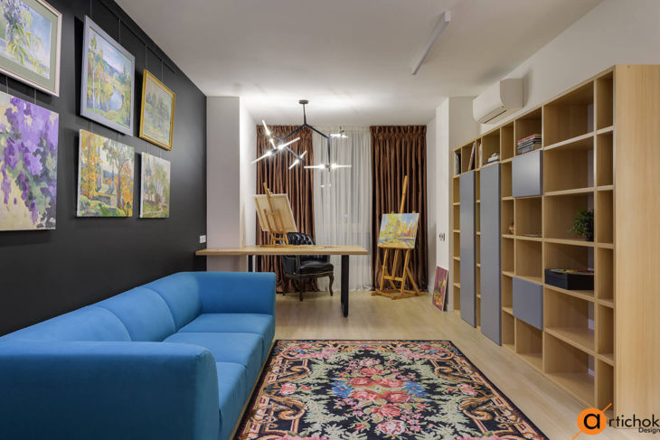 Colorful project for an apartment in Kiev